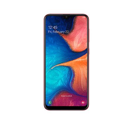 """סמארטפון Samsung Galaxy דגם A20 מסך """"6.4 אחסון 32GB+3GB RAM מצלמה כפולה 13+5MP קדמית 8MP יבואן רשמי"""
