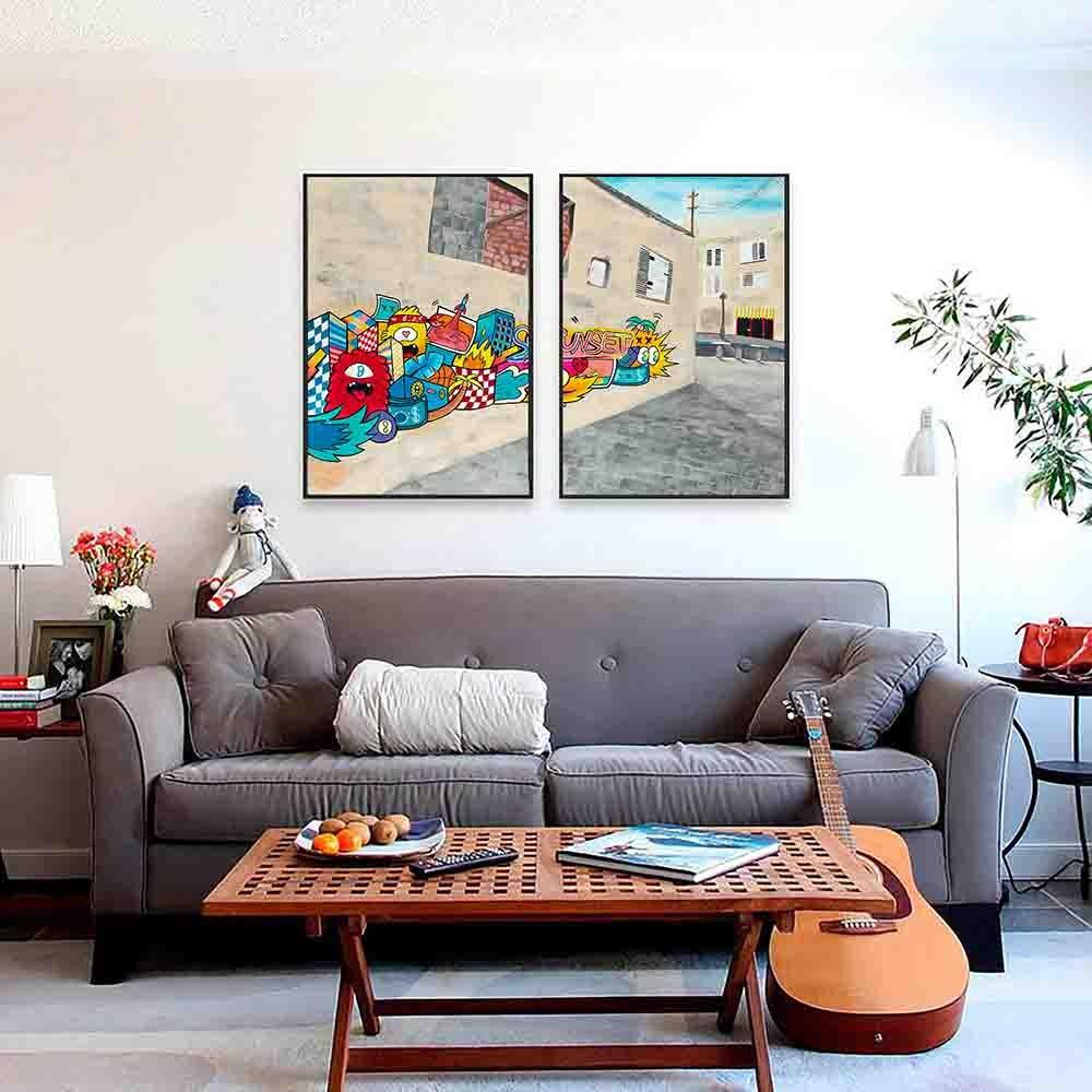 סט תמונות צבעוניות להלבשת הבית של האמן כפיר תג'ר