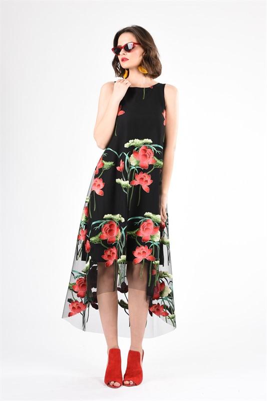 שמלה מואנה רקמה S19