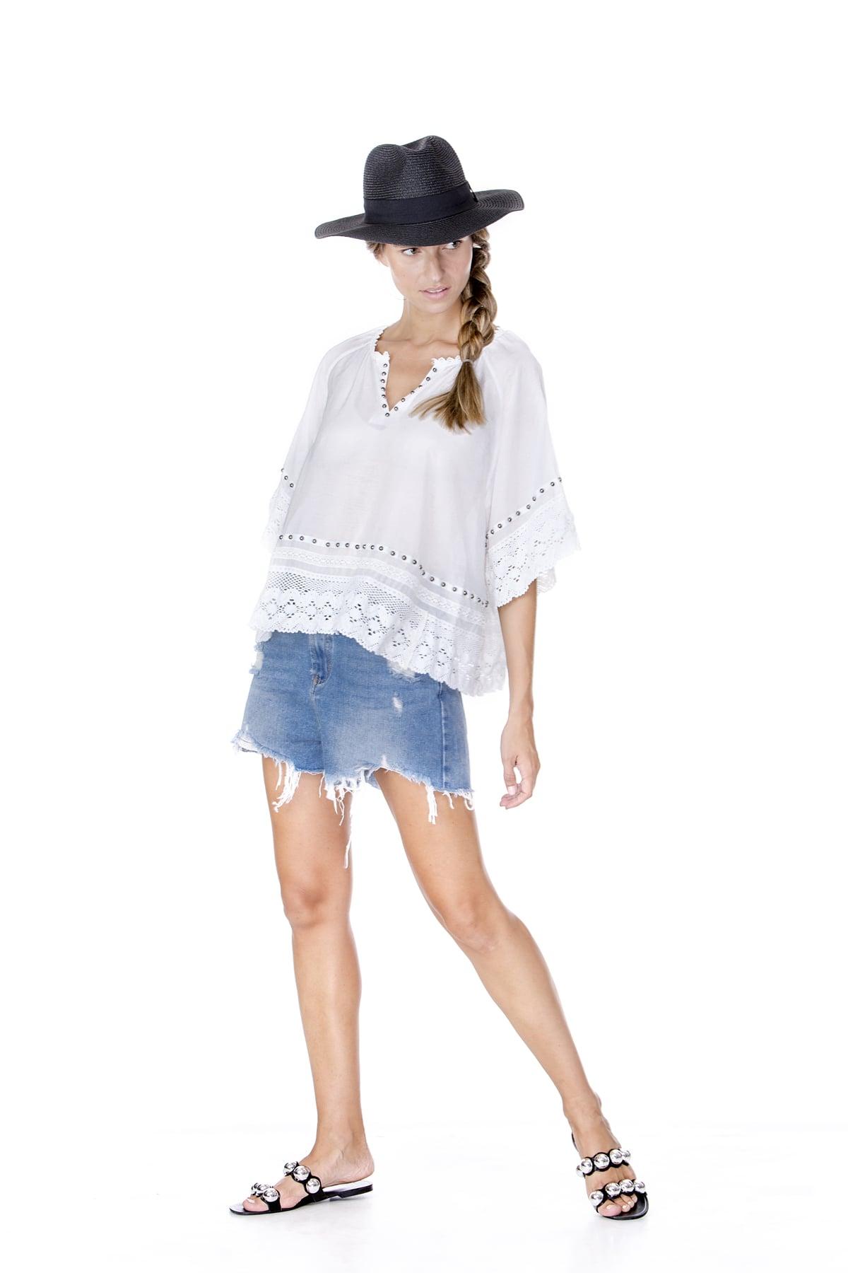 חולצת קארי לבנה