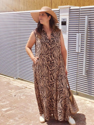 שמלת מנהטן זברה