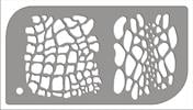 עור נחש + עור נמר / ג'יראפה [t002] - שבלונות איכותיות tra-fa-ret stencils