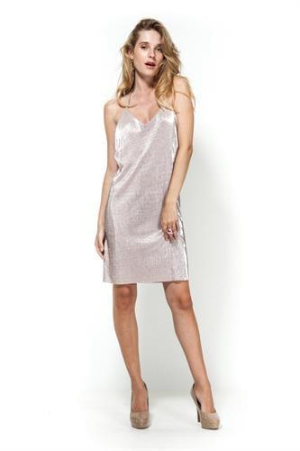 שמלת אוסקר גלאם מיני ורוד