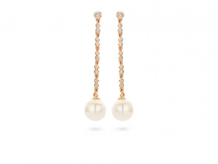 עגילי כסף 925 EA6426-pearl