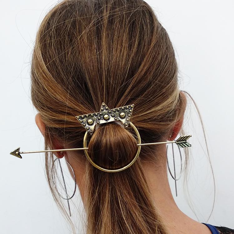 סיכת שיער באטרקאפ זהב מושחר