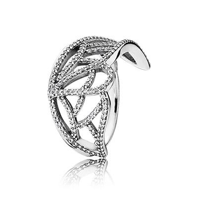 טבעת כסף התחלות חדשות בשיבוץ מיקרו זרקונים