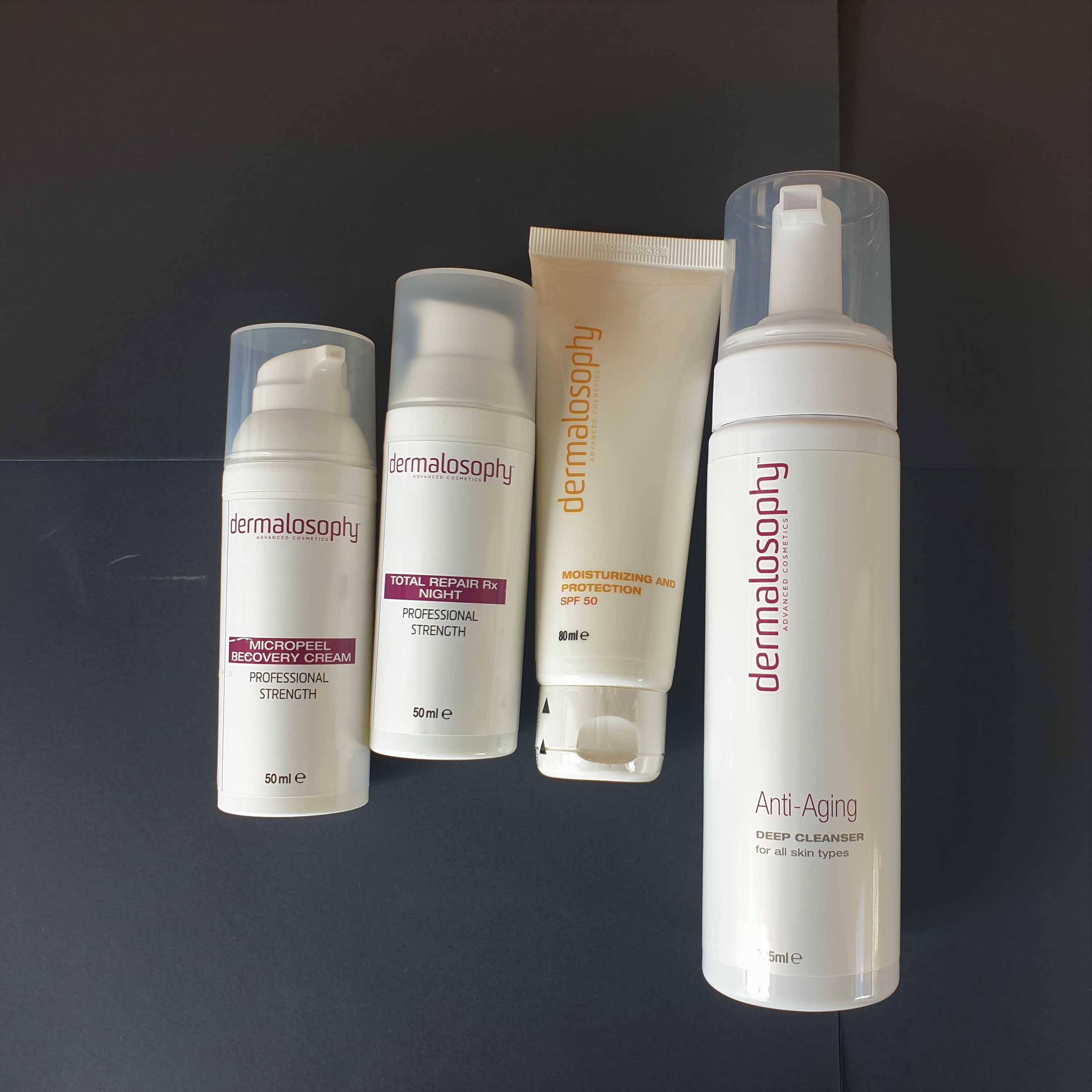 Anti-aging kit for skin renewal 4 products DERMALOSOPHY