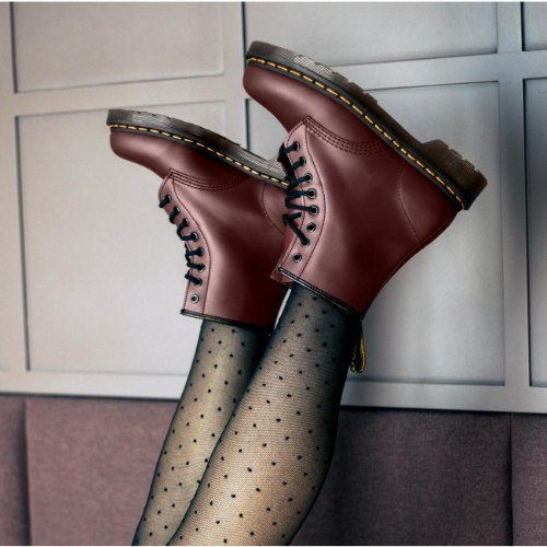 DR. MARTENS BOOT SMOOTH CHERRY RED