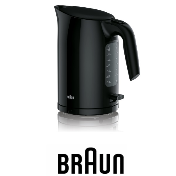 BRAUN קומקום חשמלי שחור דגם WK3100BK