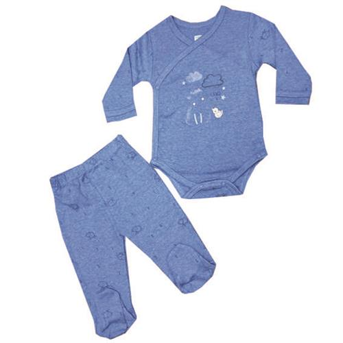 חליפת חזייה כבש - כחול