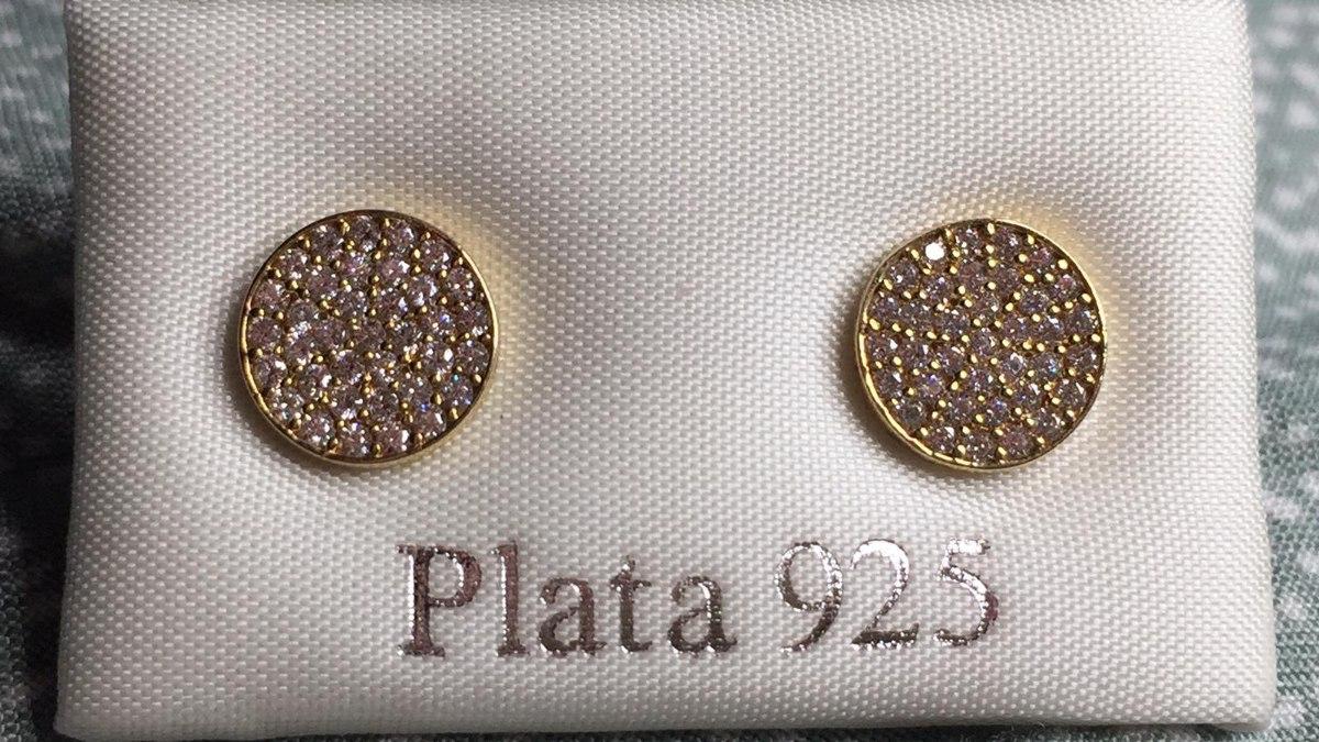 עגיל כסף עיגול מצופה זהב
