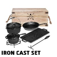 סט ברזל יצוק CAST IRON CAMPERS SET