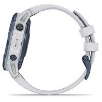 שעון דופק Garmin Fenix 6 Pro Solar Mineral blue with whitestone band
