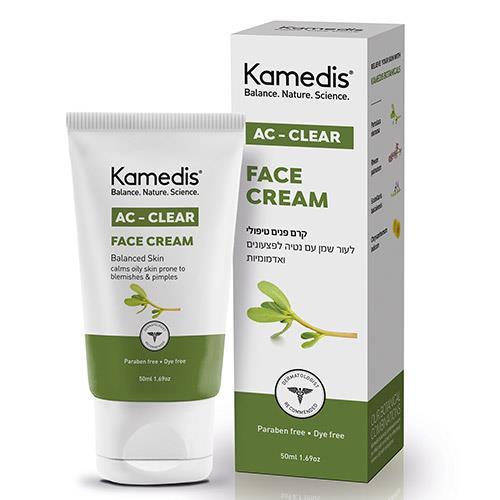 """-- קרם פנים טיפולי  לעור שמן עם נטייה לפצעונים ואדמומיות -- קמדיס, 50 מ""""ל"""