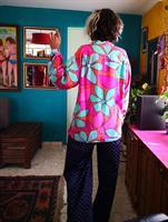 חולצה צבעונית מכופתרת עליזה ביותר מידה L