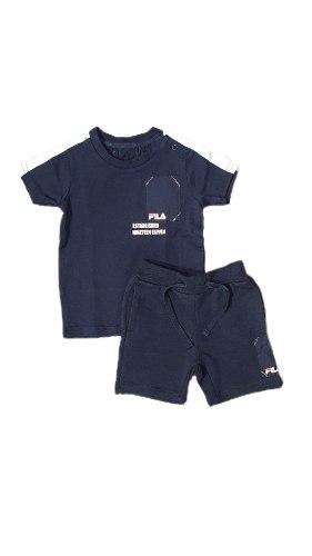 חליפת תינוקות כחול לבן FILA