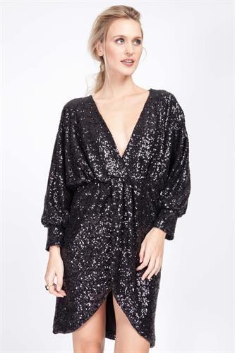 שמלת סנטנה פייט שחור