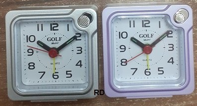 """שעון מעורר GOLF  PT201 גולף 6*6 ס""""מ נודניק"""