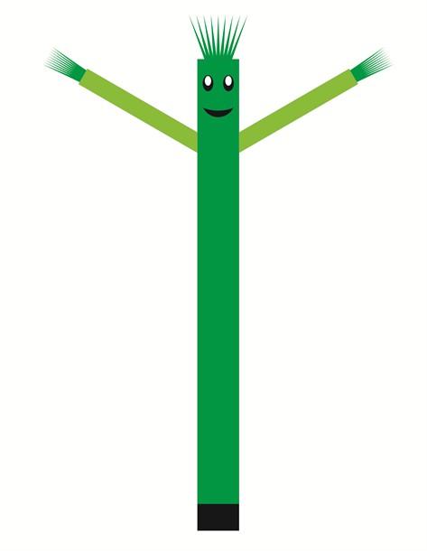 בובת דנסר רוקדת בגובה 6 מטר - צבע ירוק ידיים ירוק בהיר