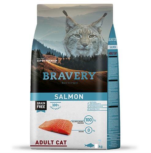 מזון לכלב BRAVERY סלמון 12 קג היפואלרגני