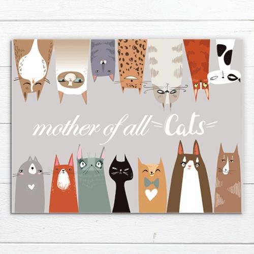 פלייסמט מעוצב לשולחן mother of all cats