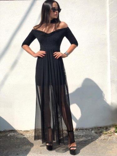 שמלת מקסי קולר FAVOLA