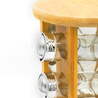 """מתקן תבלינים מסתובב כולל 12 בקבוקים וצלחת אירוח בשווי 79.90 ש""""ח במתנה"""