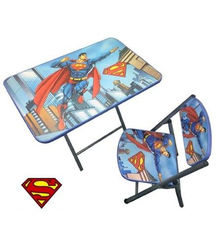 סט שולחן עץ מתקפל + כסא סופרמן