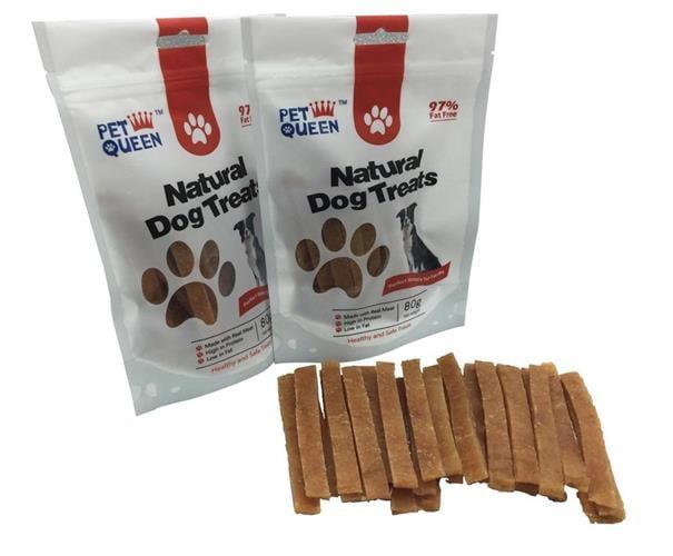 חטיף לכלב ללא דגנים – רצועות טלה 80 גרם