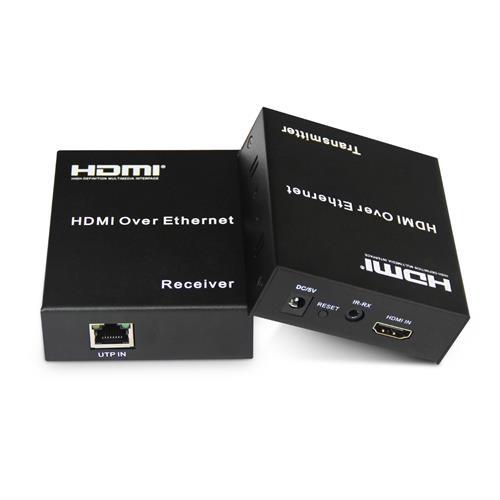 מגדיל טווח HDMI על ידי כבל רשת 120 מטר