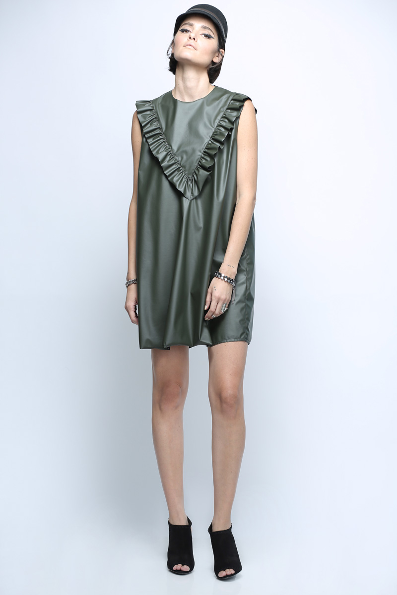 שמלת ויגן ירוקה
