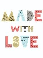 הדפס ב-3 גדלים לבחירה - MADE WITH LOVE