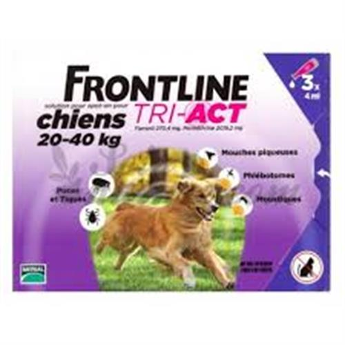 פרונטליין טרי-אקט 20-40 ק״ג 3 אמפולות לכלב
