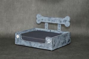 מיטה לכלב- בונזי S אפור בטון