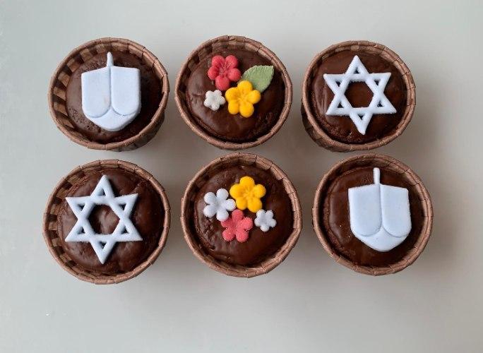 מארז מאפינס שוקולד חנוכה - ללא קמח חיטה
