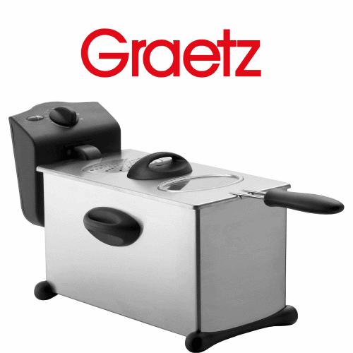 Graetz סיר טיגון נשלף נירוסטה  דגם: DF-744