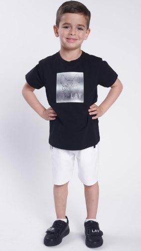 חליפת בנים הולוגרמה שחור לבן REPLAY