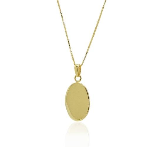 שרשרת זהב חריטה אישית|תליון זהב עם חריטה