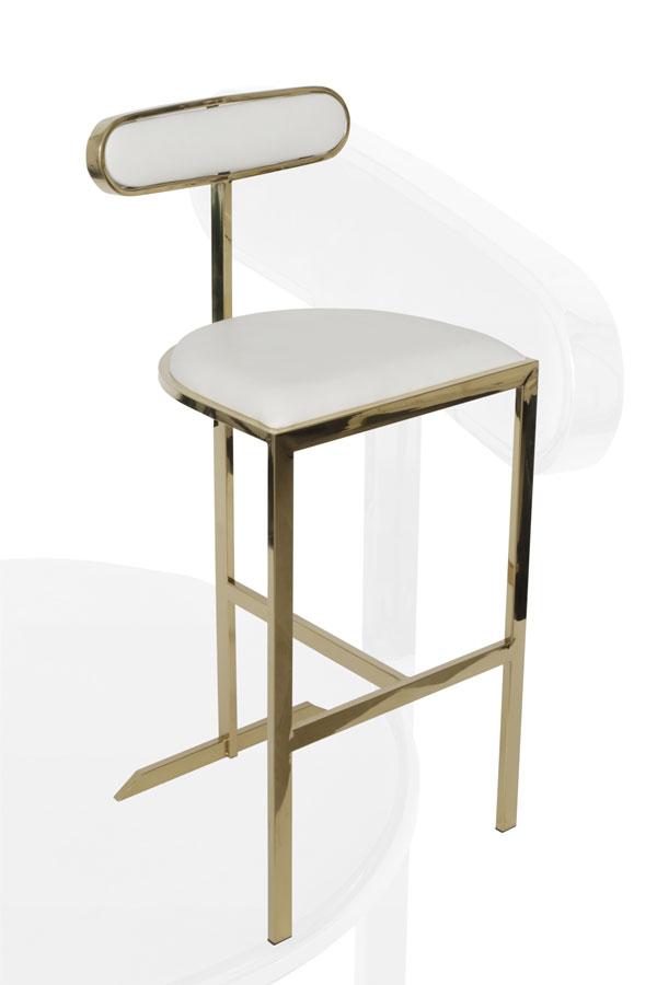 כסא בר ADAGIO מפתח הפריט: 9814  מגיע בצבע: זהב שמנת מידות: 100*70*45