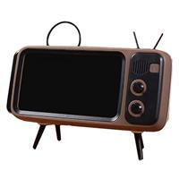מחזיק סמארטפון בעיצוב טלוויזיה בעל רמקול בחיבור בלוטוס