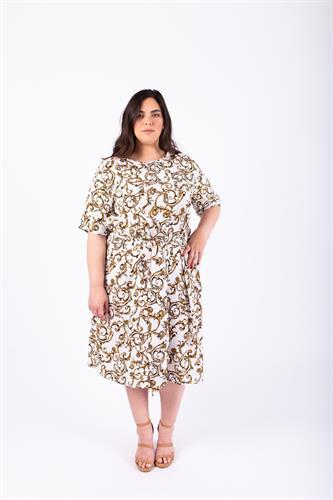שמלת ליב לבן מודפס