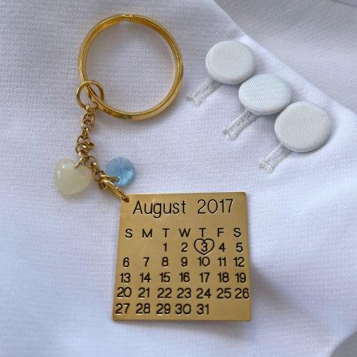 מחזיק מפתחות תעודת לידה עם אבן מחלב אם-שביל החלב-תכשיטים למניקות