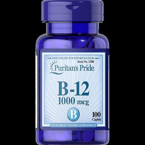 """-- ויטמין בי 12--   Puritan's Pride מאה יח' 1000 מק""""ג"""