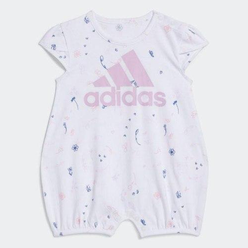 אוברול לבן ADIDAS תינוקות בנות - 3-24 חודשים