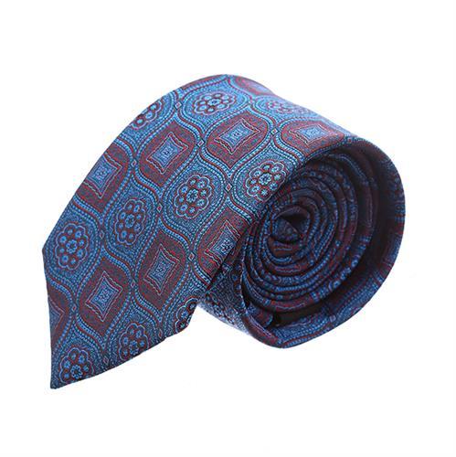 עניבה פרחים מעויינים כחול נייבי
