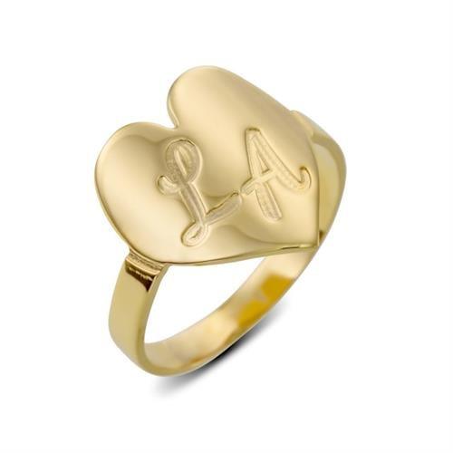 טבעת חותם לב