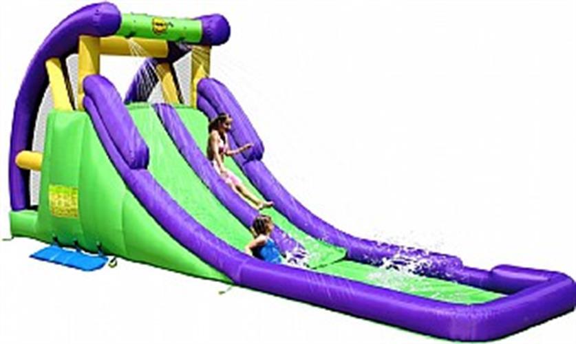 מגלשת מים כפולה הפי הופ - 9029 - Double Water Slide Double The Fun HappyHop מגיע עם סולם טיפוס