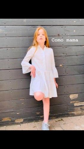 שמלה מסתובבת לבנה