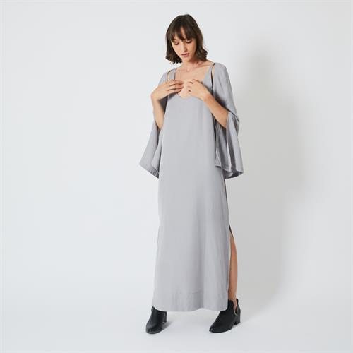 שמלת גלביה אפורה