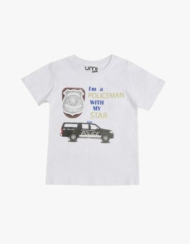חולצה בנים I'M POLICE MAN